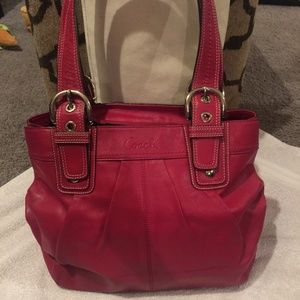 Coach purse - red